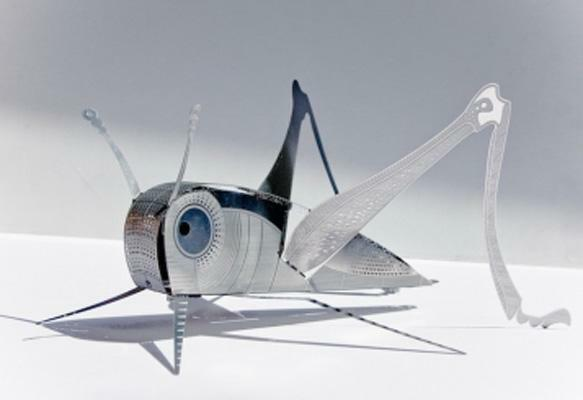 XL Grasshopper XLBug Origami Stainless Steel Construction Kit by Touch of Ginger