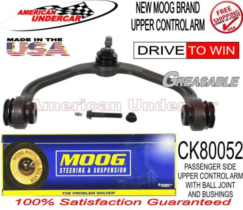 MOOG CK80052 K80052 RIGHT PASS SIDE UPPER CONTROL ARM BALL JOINT AND BUSHINGS