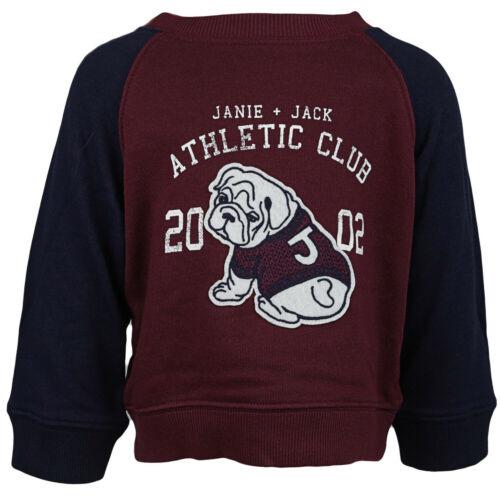 Janie And Jack Varsity Bulldog Sweatshirt Active