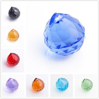 20mm Charms Faceted Glass Crystal Chandelier Lamp Prisms Hanging Drops Pendants