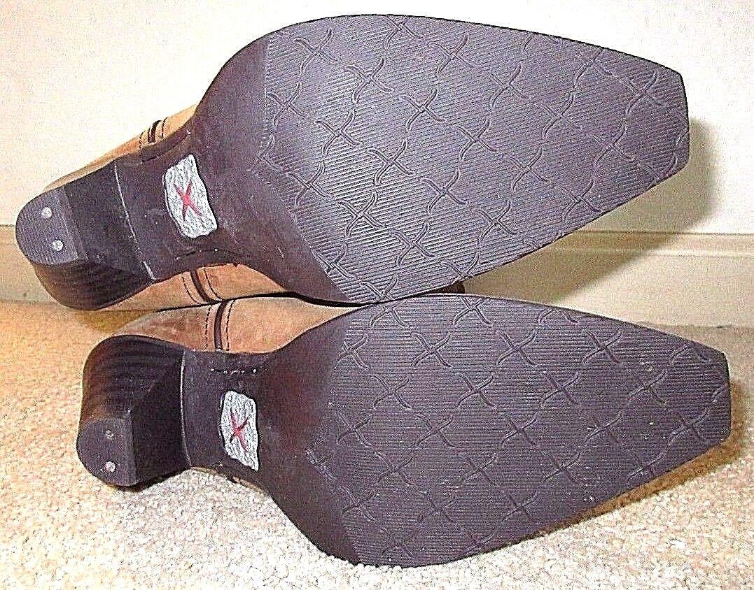 New Damenschuhe Cute Größe 6 Twisted X Cute Damenschuhe Tall Braun Leder Western Cowgirl Heel Stiefel 1cb107