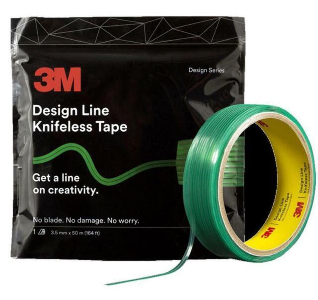 3M Design Line Knifeless Tape KTS-DL1 Green 3.5mm x 50m