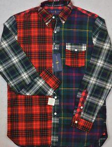 NWT Ralph Lauren Men/'s L//S Blue Brushed Cotton Oxford Shirt Sz M L XL NEW $99
