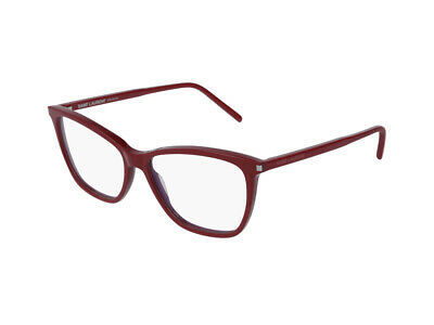 AnpassungsfäHig Gestell Optische Brille Saint Laurent Authentic Sl 259 Rot 003