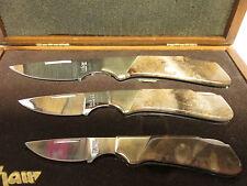 Kershaw VINTAGE Knife Set, in Walnut Presentation Box - Petrified Wood Handles