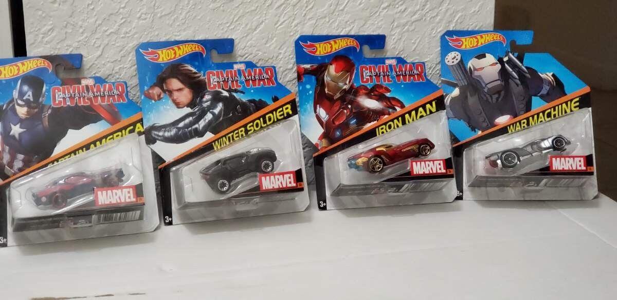 Marvel Civil War Hotwheels Collection