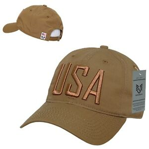 Details about Coyote USA US United States of America Ripstop Polo Army Flag  Baseball Hat Cap d4e2da1b8bc