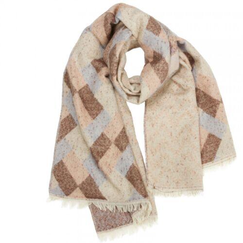 CASPAR Damen großer warmer Herbst Winter XXL SCHAL mit stylischem Karo Muster