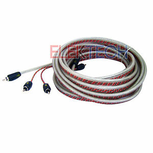 Stinger SI4917 Video/Audio RCA Stereo Cable 4000 Series 2-Channel 17 ft