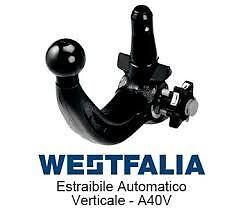 dal 02//2015 Jeep Renegade Westfalia-Automotive 342196600001 Gancio di Traino Fisso AHK per Fiat 500 X dal 08//2014