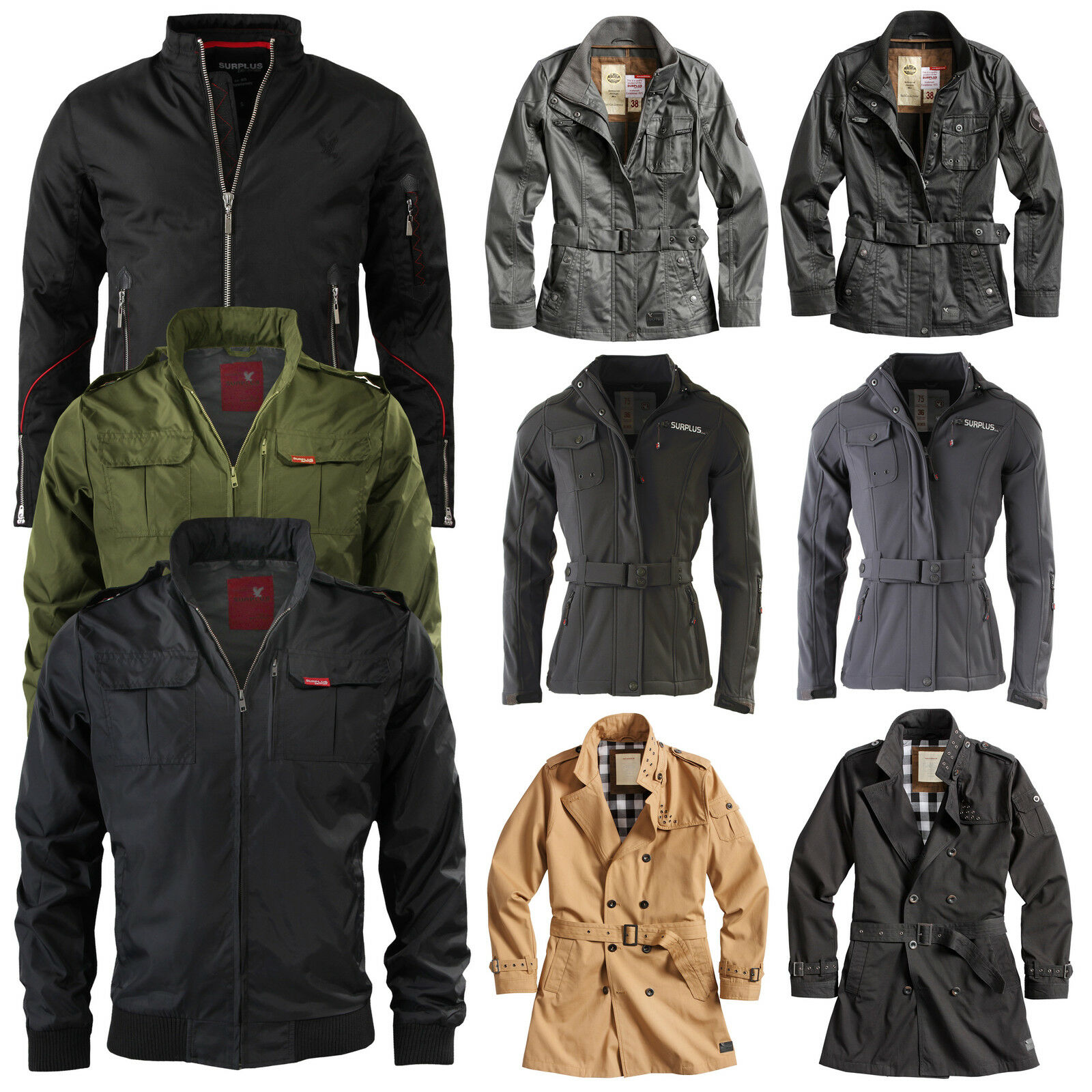 Surplus ™ RAW Vintage veste / trench-coat extérieur à fonction militaire