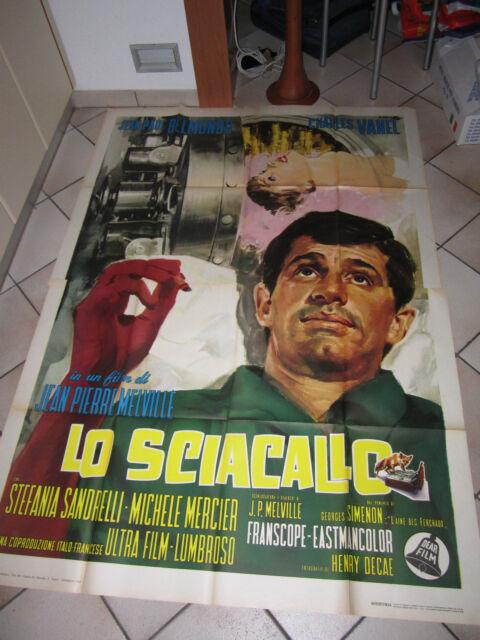 MANIFESTO 1963 LO SCIACALLO,J.P.BELMONDO,J.P.MELVILLE   L'AINE' DES FERCHEAUX