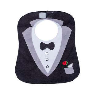 Black-Cute-Tuxedo-Toddler-Nutrition-Baby-Bib-T5I6