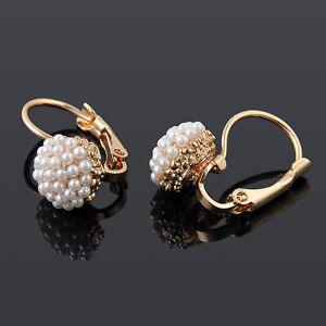 Stylish-Women-Lady-Elegant-Pearl-Beads-Ear-Stud-Hoop-Dangle-Earrings-Jewelry