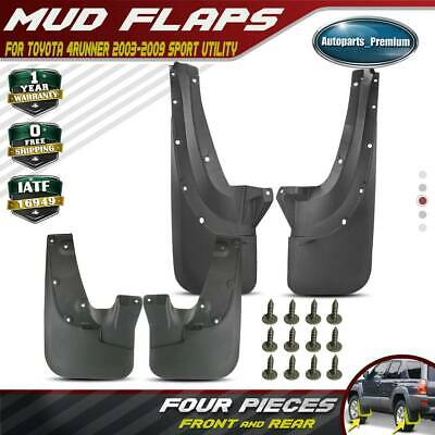 Set of 4 Front and Rear Mud Flaps Splash Guards for Toyota 4Runner 2006-2009