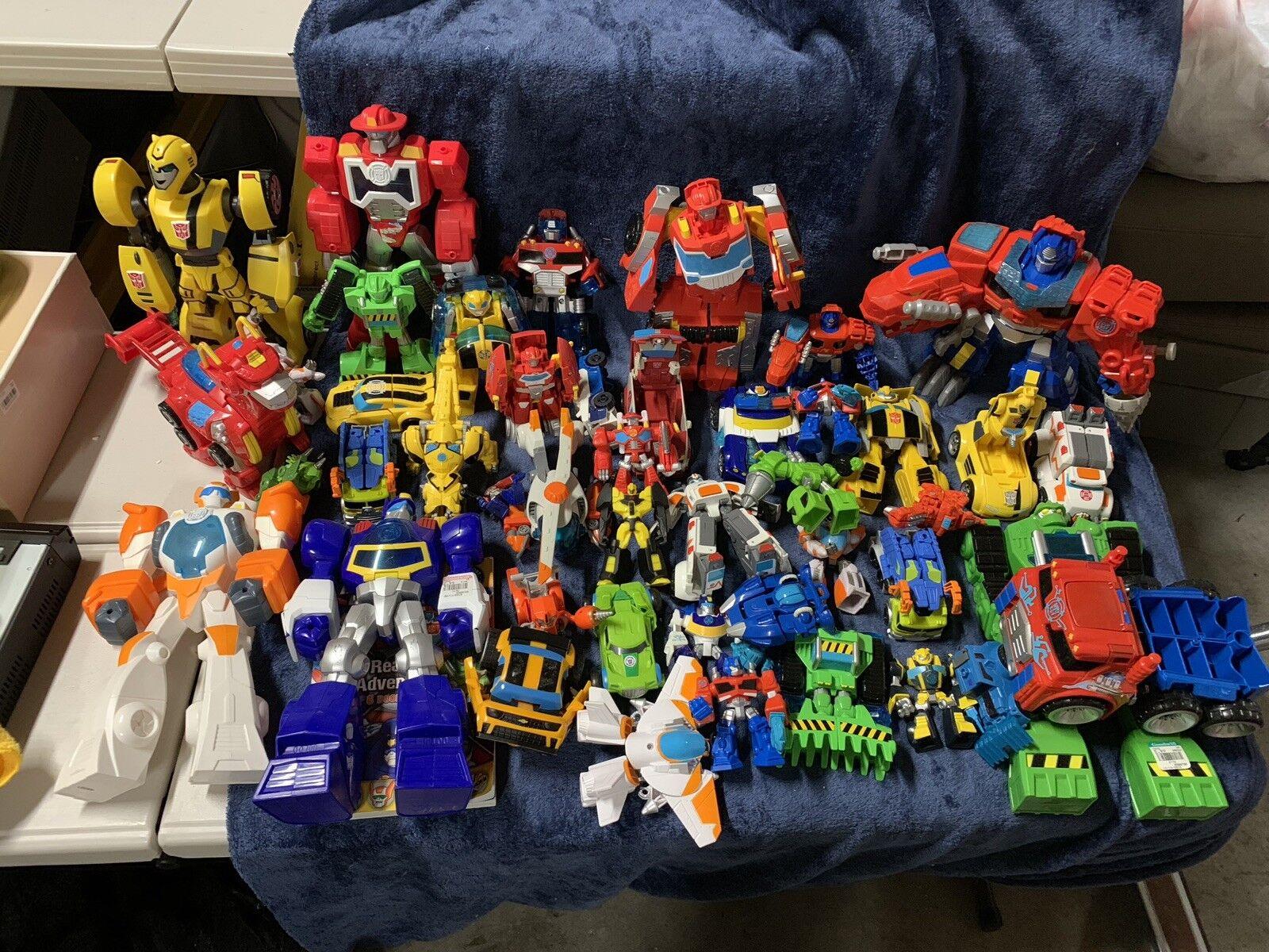 Gran Lote De Transformers Rescue Bots de Playskool Hasbro Robots Cons