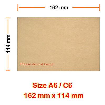500 A6 dur C6 board dos enveloppe veuillez ne pas plier 162mm x 114mm meilleure qualité