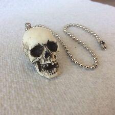 Made in USA Skull Skeleton head Fan Light Pull chain goth punk #17-FP
