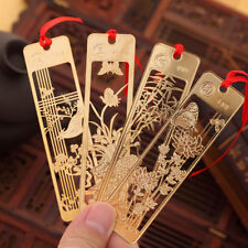 Exquisite Chinese Style Metal Flowers Bookmarks For Gift Present Souvenirs Gifts