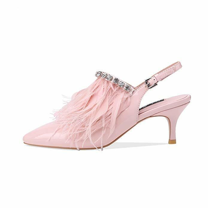 prezzo più economico Donna  Vogue Plus Dimensione Dimensione Dimensione Feather Tassels Sandals Pointy Toe Rhinestones scarpe New  preferenziale
