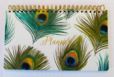 Cr Gibson Peacock Feather Perpetual Weekly Desk Calendar Nwt