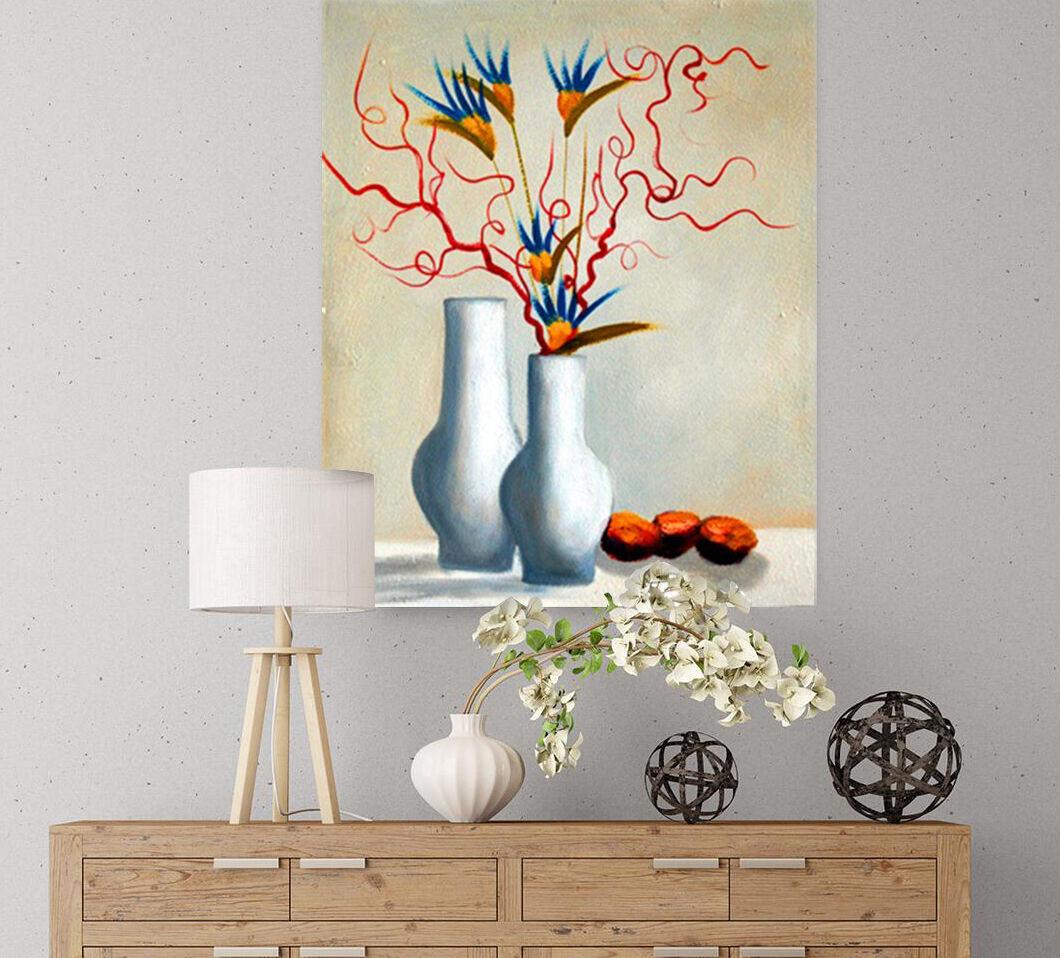 3D vaso di fiori 8891 Adesivi Murali Parete in Vinile Murales STAMPA DECO ajstore UK Limone