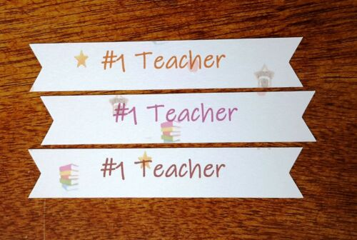 Best or #1 Teacher or Best Teaching Assistant Banner Style Card Embellishments