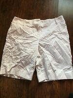 Women's Ann Taylor Loft Julie  White  Denim Shorts Sz 8