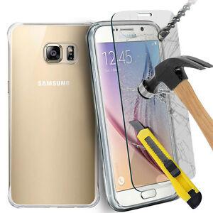 0-3mm-Funda-Carcasa-Silicona-amp-Protector-de-Pantalla-Cristal-Templado-Para-Phone