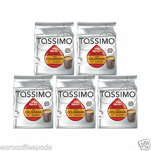 Tassimo Kenco Colombian Coffee t-discs Pods Capsules 5 Packs 80 t disc 80 Drinks | eBay