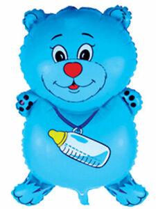 Ballon-Feuille-Ours-Animal-D-039-Helium-a-Gonfler-Anniversaire-D-039-Enfant-Bleu