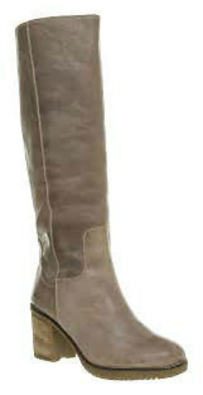 Womens Office Joplin Pull On  Boot Grey  Leather Boots With Fur