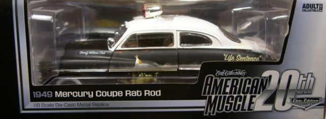 1949 MERCURY RAT ROD POLICE CAR AUTO WORLD 1:18 SCALE DIECAST METAL MODEL CAR