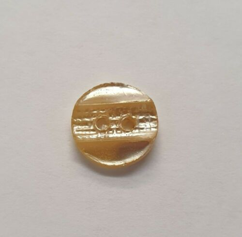 Efecto perla oro 2 Botones Camisa plana agujero 11mm//18L B1115
