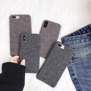 Ultra-thin-Fabric-Stripe-For-iPhone-6s-7-Plus-Case-Cover-Felt-Cloth-Soft-Skin