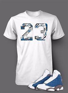 T Shirt To Match Air Jordan 13 Flint Shoe White T Short Sleeve Pro