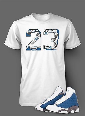 T Shirt To Match Air Jordan 13 Flint Shoe White T Short Sleeve Pro Club Graphic Ebay