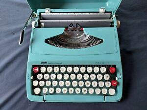 Vintage Smith-Corona 6Y SKYRITER Portable Manual Typewriter with Case & Box