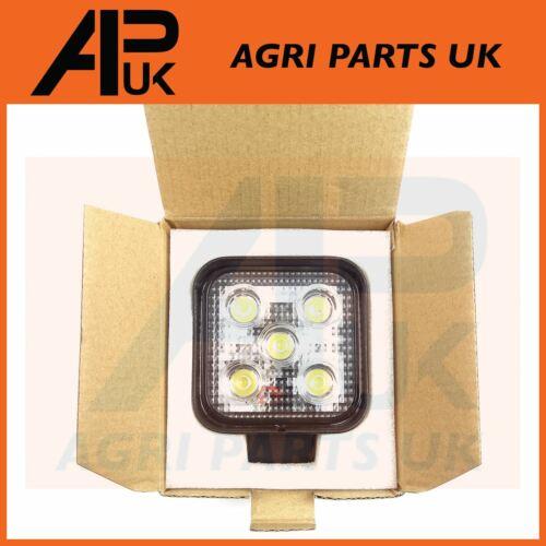 Pair 15W LED work Light Lamp 12V Flood Beam 24V Square Trailer Offroad 4X4 SUV