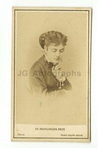 Image Is Loading 19th Century Fashion 1800s Carte De Visite Photograph