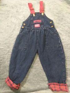 483931615 Vintage OshKosh B'Gosh Overalls Children's Size 2T cats striped ...