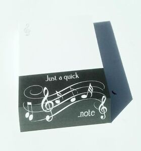 A6 Hardback Spiral Bound NoteBook PAD JOTTER Musical Notes MUSIC PRESENT GIFT