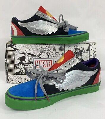 VANS X Marvel AVENGERS Old Skool Multi Mens 4 Woman's 5.5 Shoes New With Box 192360444607 | eBay