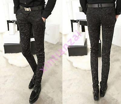 Mens Pencil Printed Casual Slim Fit Stretch Floral Camouflage Jeans Pant Trouser