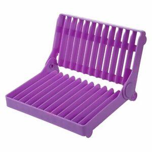Plastic-Foldable-Plate-Dish-Drying-Drainer-Rack-Organizer-Storage-Holder-Ki-J3K7