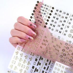 LOT-ECONOMIQUE-150-STICKERS-LOGO-3D-MARQUE-BIJOUX-ONGLES-NAIL-ART-MANUCURE