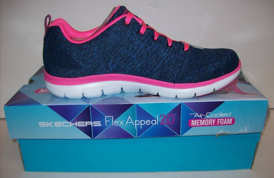 Skechers Womens SK12756 Flex Appeal 2.0 High Energy Trainers Sneakers Shoes Sz 9