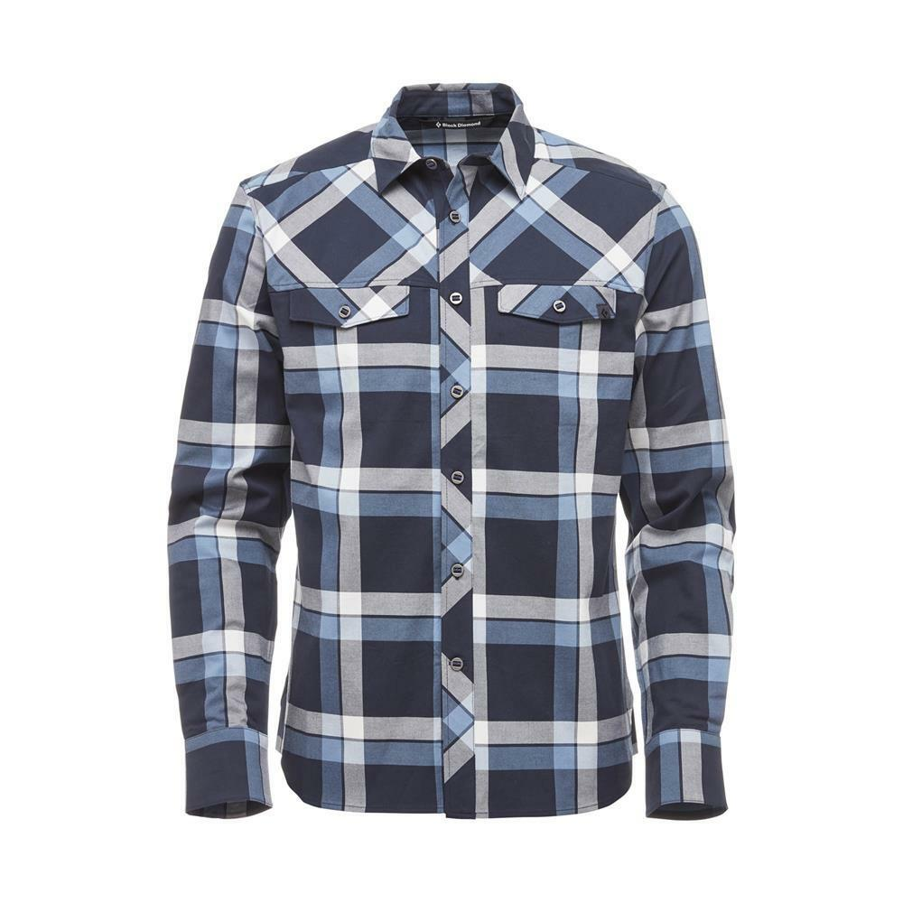 nero Diamond M Ls Technician Technician Technician Shirt, Captain-blu Steel Plaid 27672d