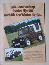 Suzuki Eljot 80 (LJ 80) Hardtops (G, L, GLN, GLH) Prospekt, D, 11.1980, selten!