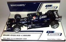 F1 1/43 WILLIAMS FW30 TOYOTA NAKAJIMA TEST JEREZ FEBRUARY 2008 MINICHAMPS